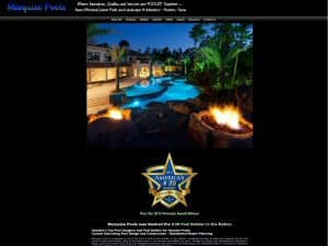Marquise Pools - Small Business Web Design by WizardsWebs Design