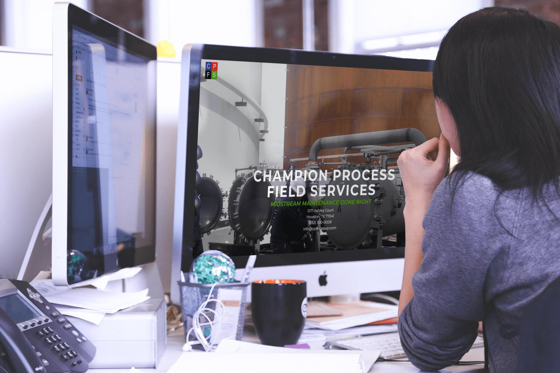 Champion Process Field Services Website Design