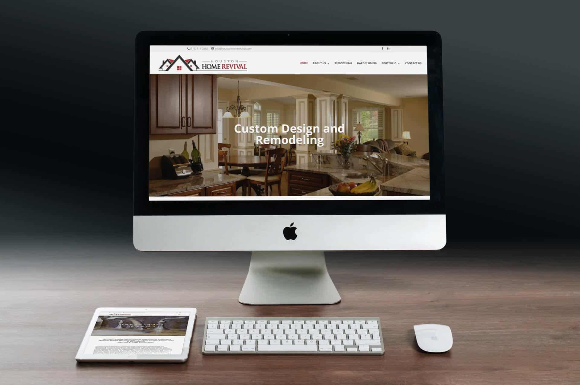 Houston Home Revival  Website Design