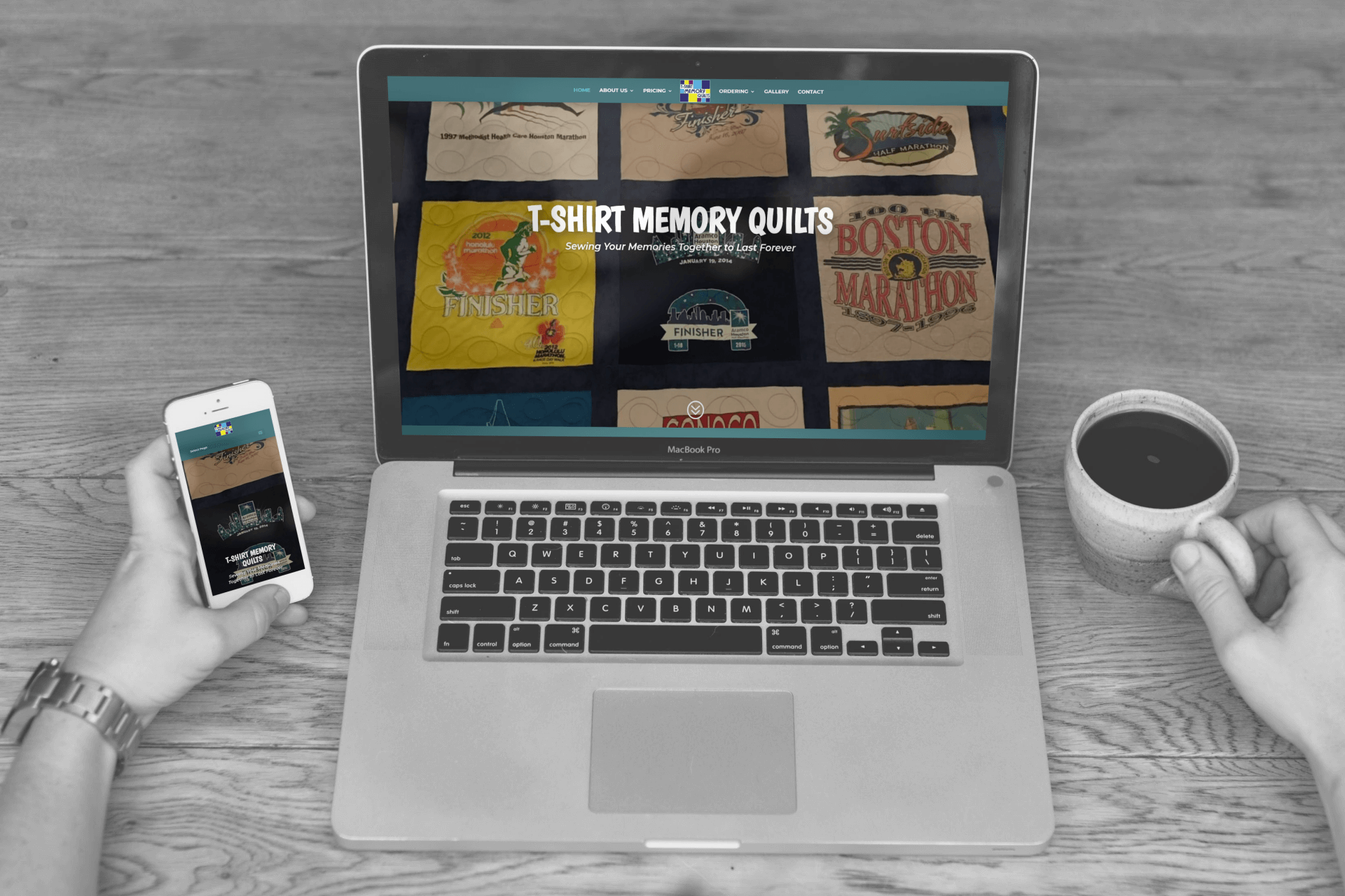 T-Shirt Memory Quilts - Small Business Website Design by WizardsWebs Design LLC