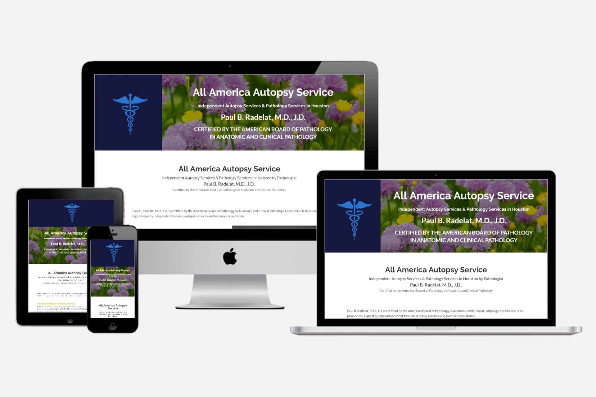 All America Autopsy Service Website Design by WizardsWebs Design LLC