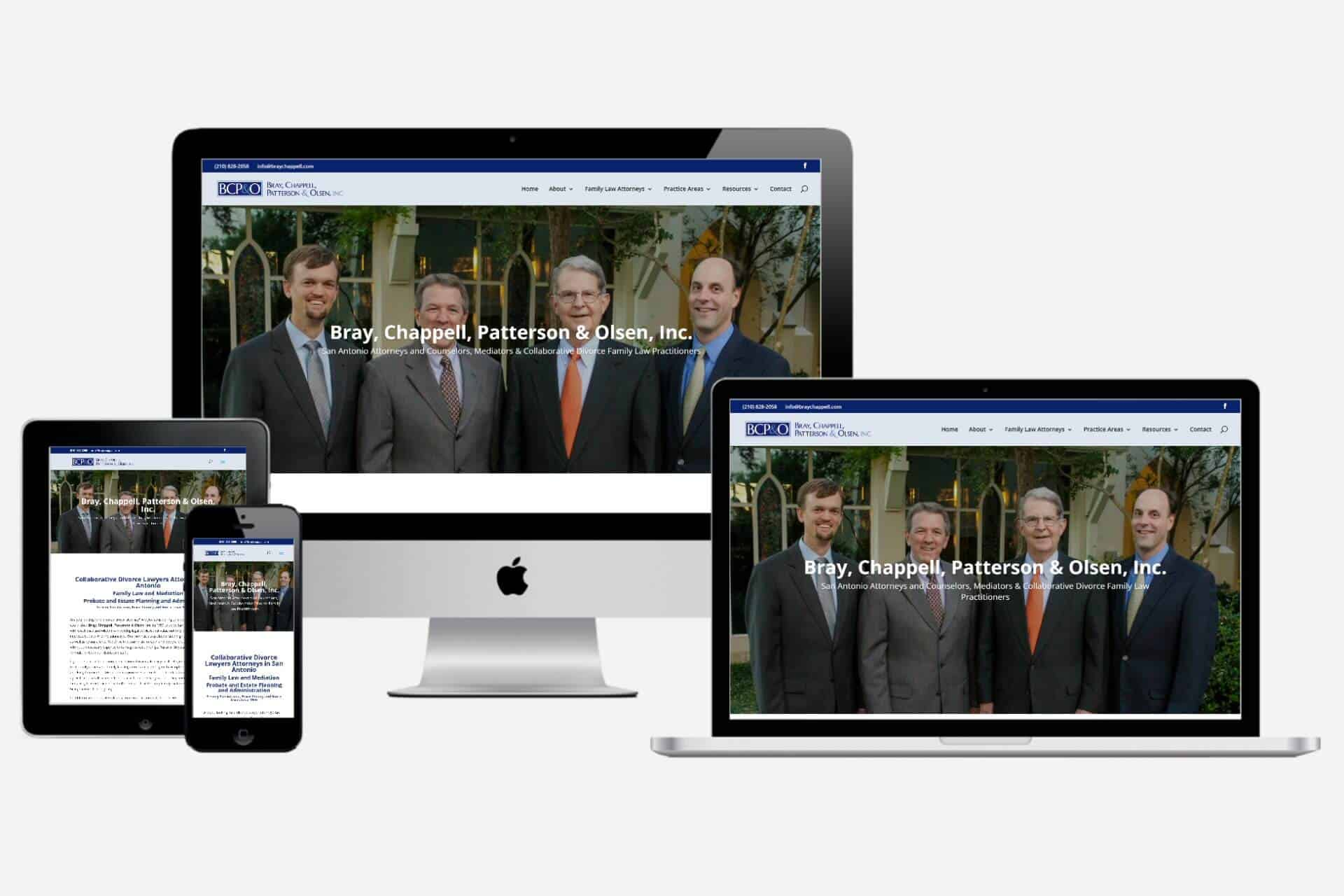 Bray, Chappell, Patterson, and Olsen Website Design by WizardsWebs Design LLC