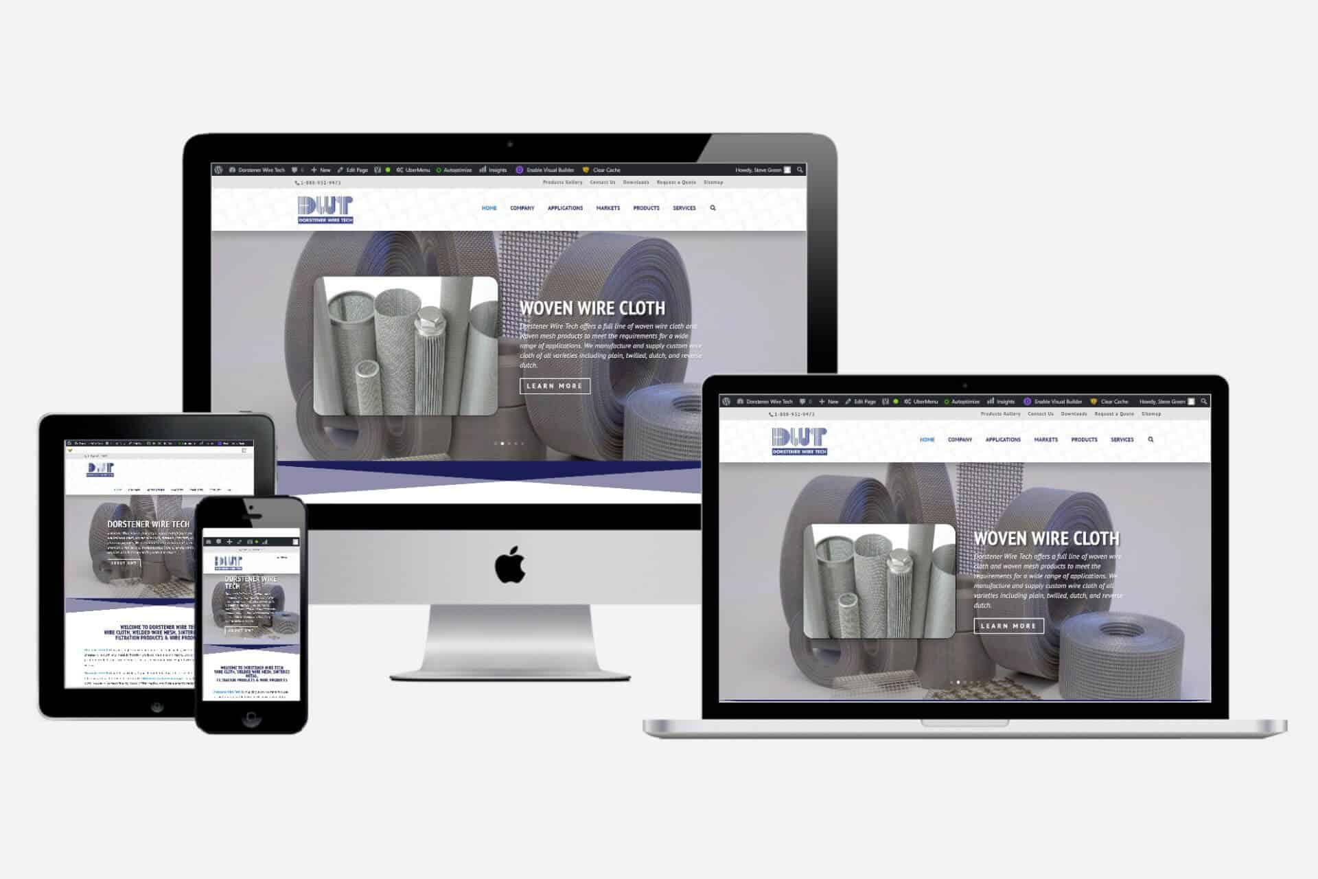 Dorstener Wire Tech Website Design by WizardsWebs Design LLC