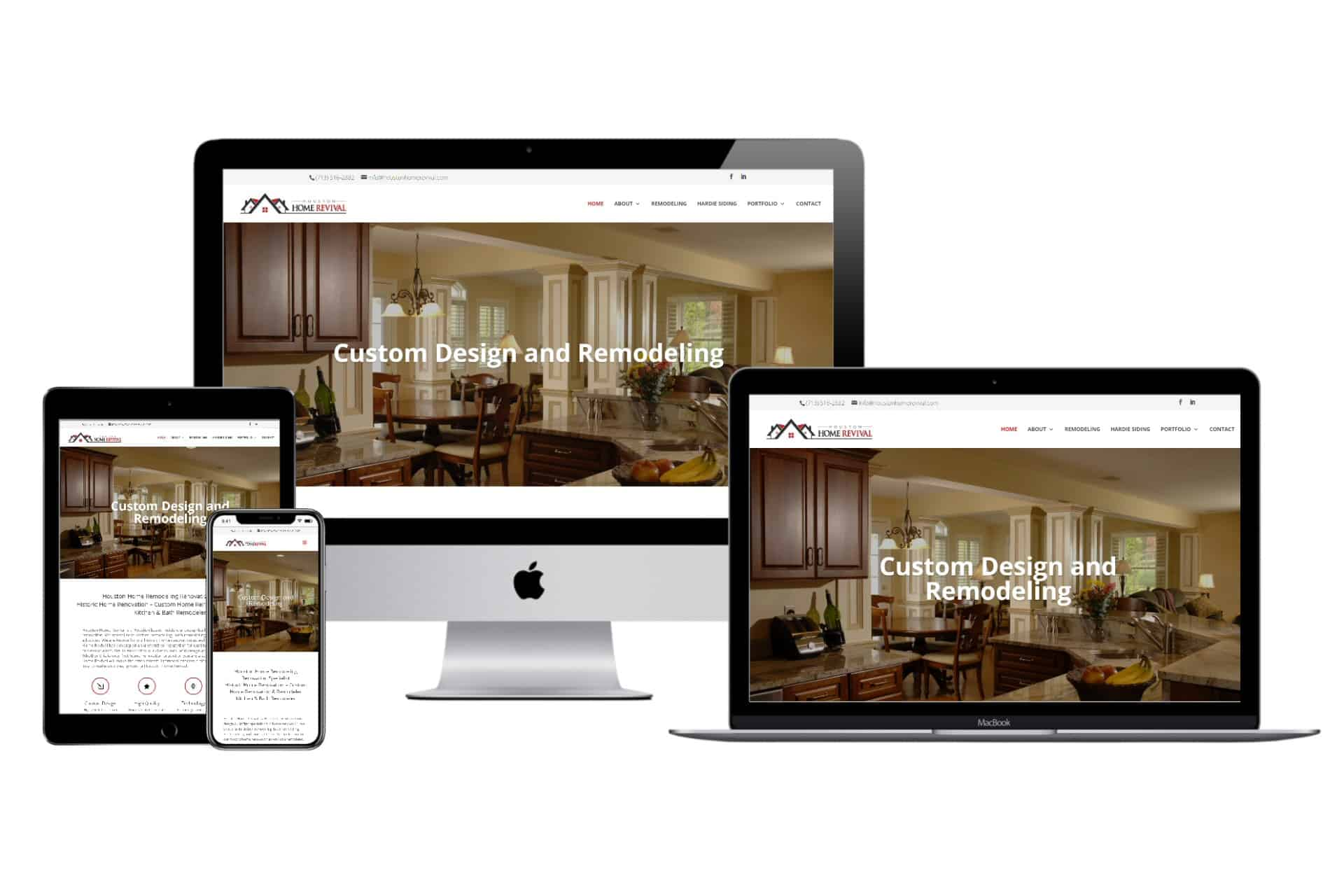 Houston Home Revival Website Design by WizardsWebs Design LLC