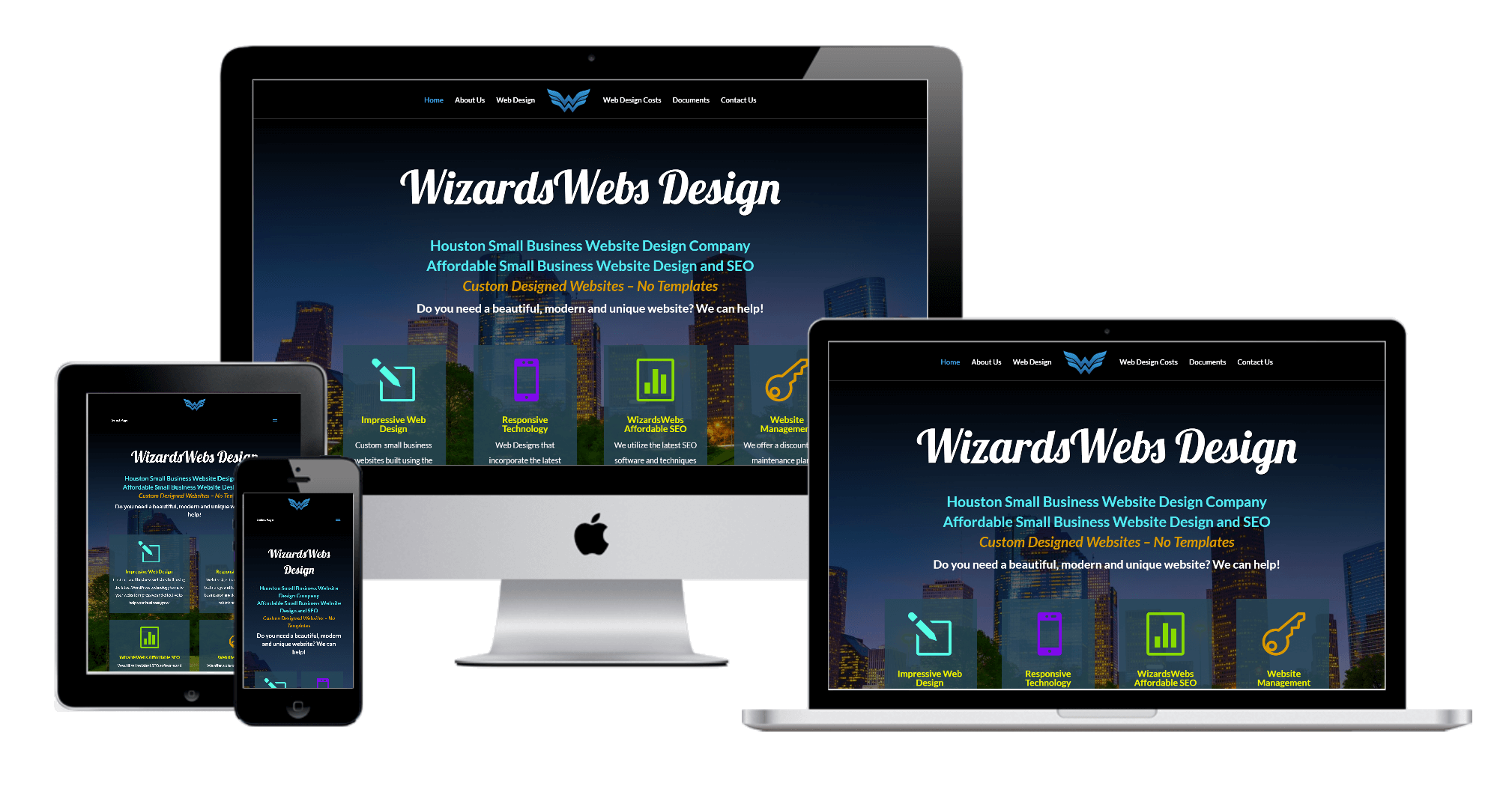 The Woodlands business website design - WizardsWebs Design LLC