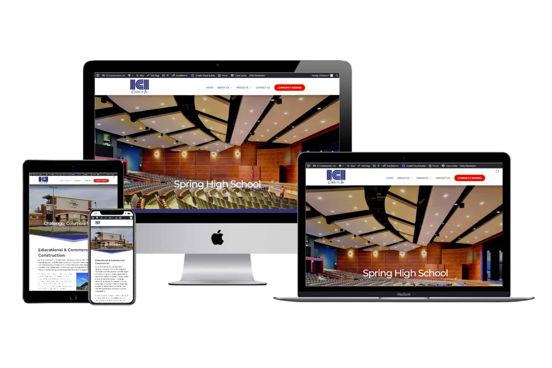 ICI Construction, Inc. New 2020 Responsive Website Design