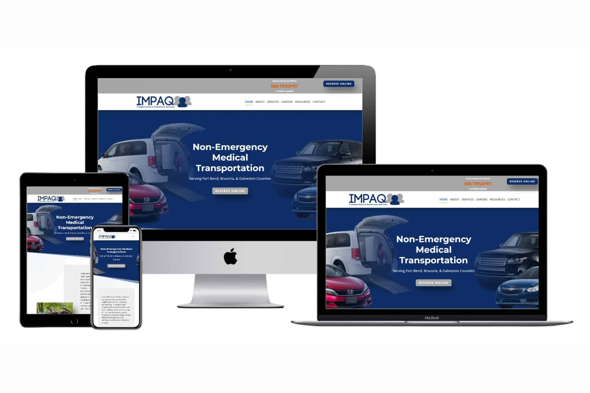 Impaq Transportation Website Design by WizardsWebs Design