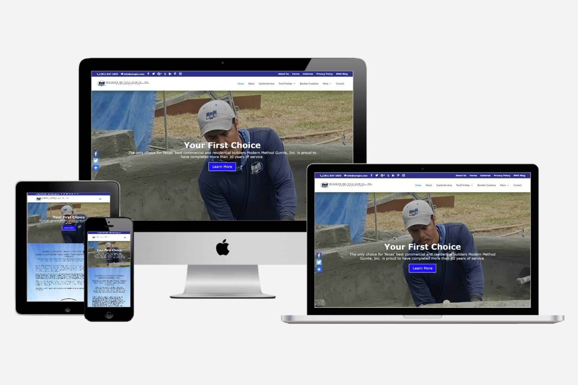 Modern Method Gunite Website Design by WizardsWebs Design LLC