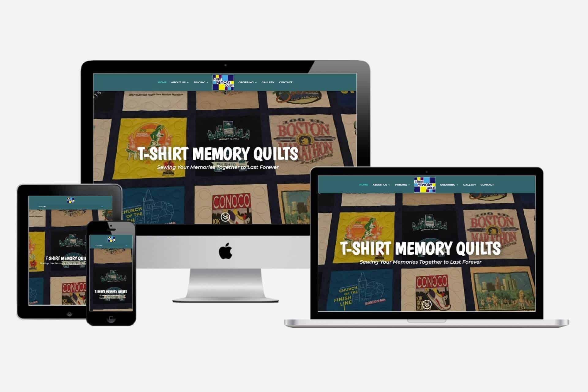 T-Shirt Memory Quilts Website Design by WizardsWebs Design LLC