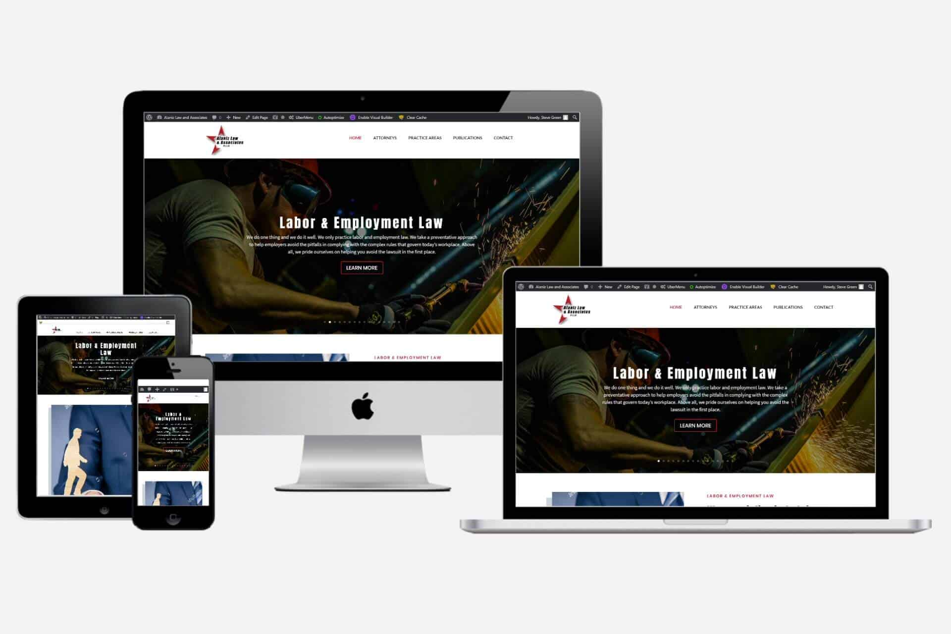 Alaniz Law & Associates Website Design by WizardsWebs Design LLC