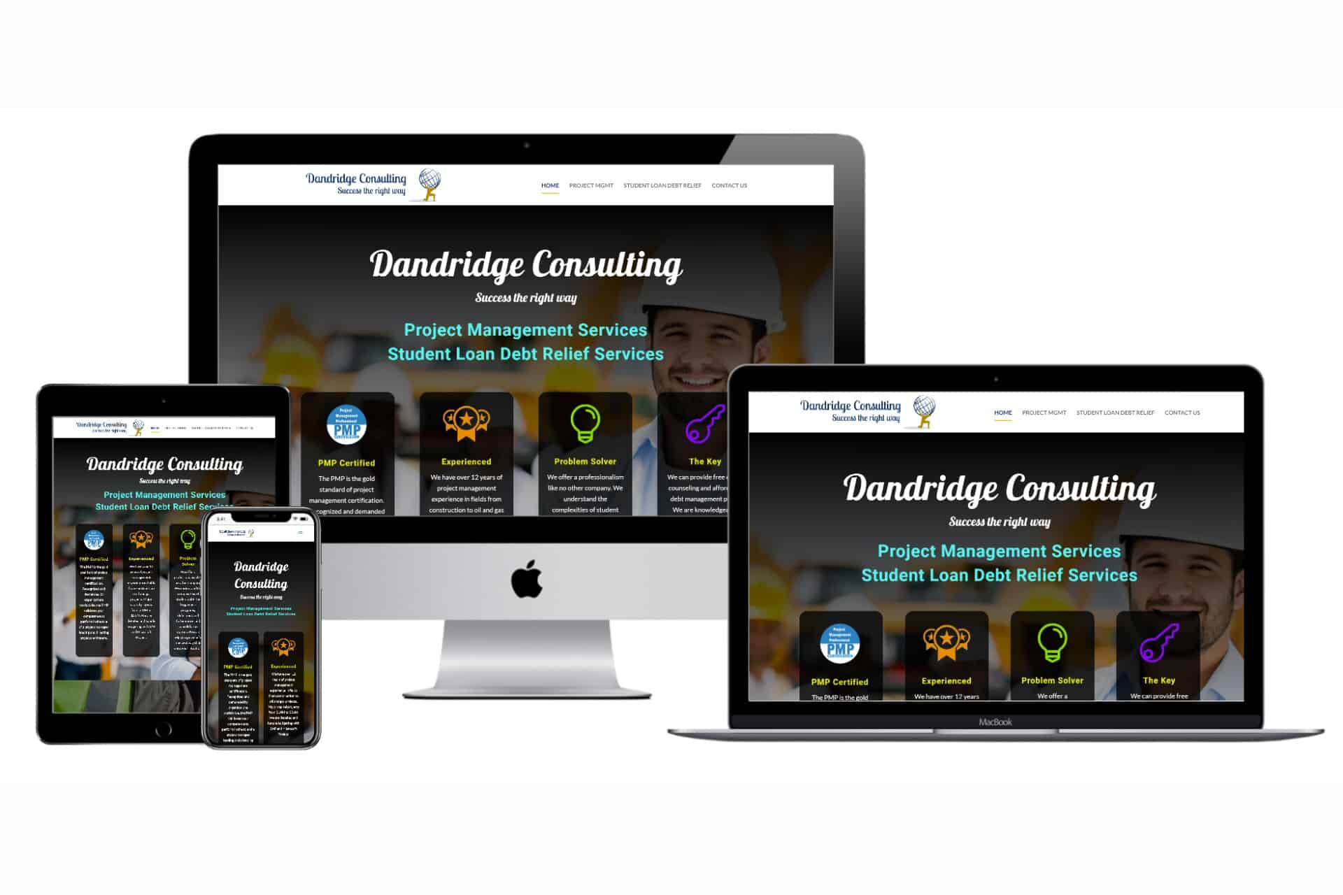 Dandridge Consulting Website Design by WizardsWebs Design