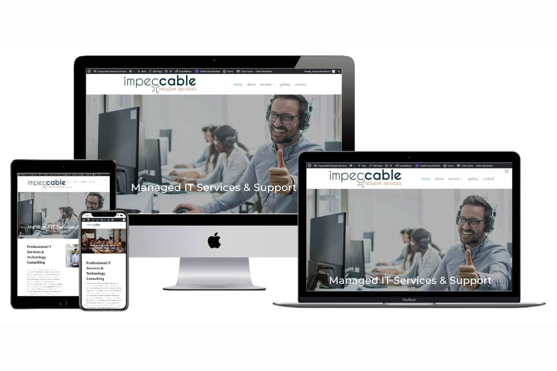 Impeccable Network Services New 2020 Responsive Website Design