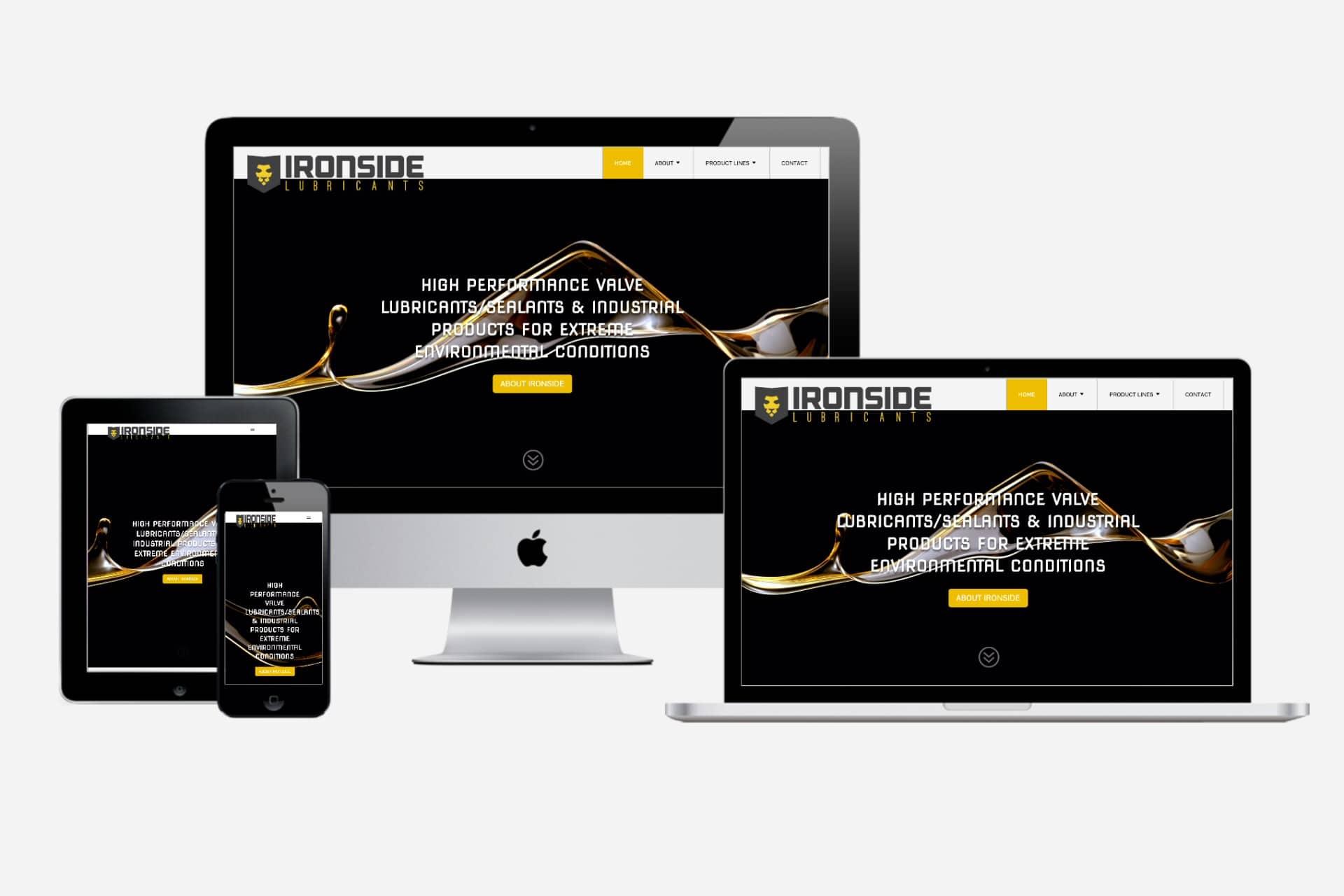 Ironside Lubricants New 2020 Responsive Website Design