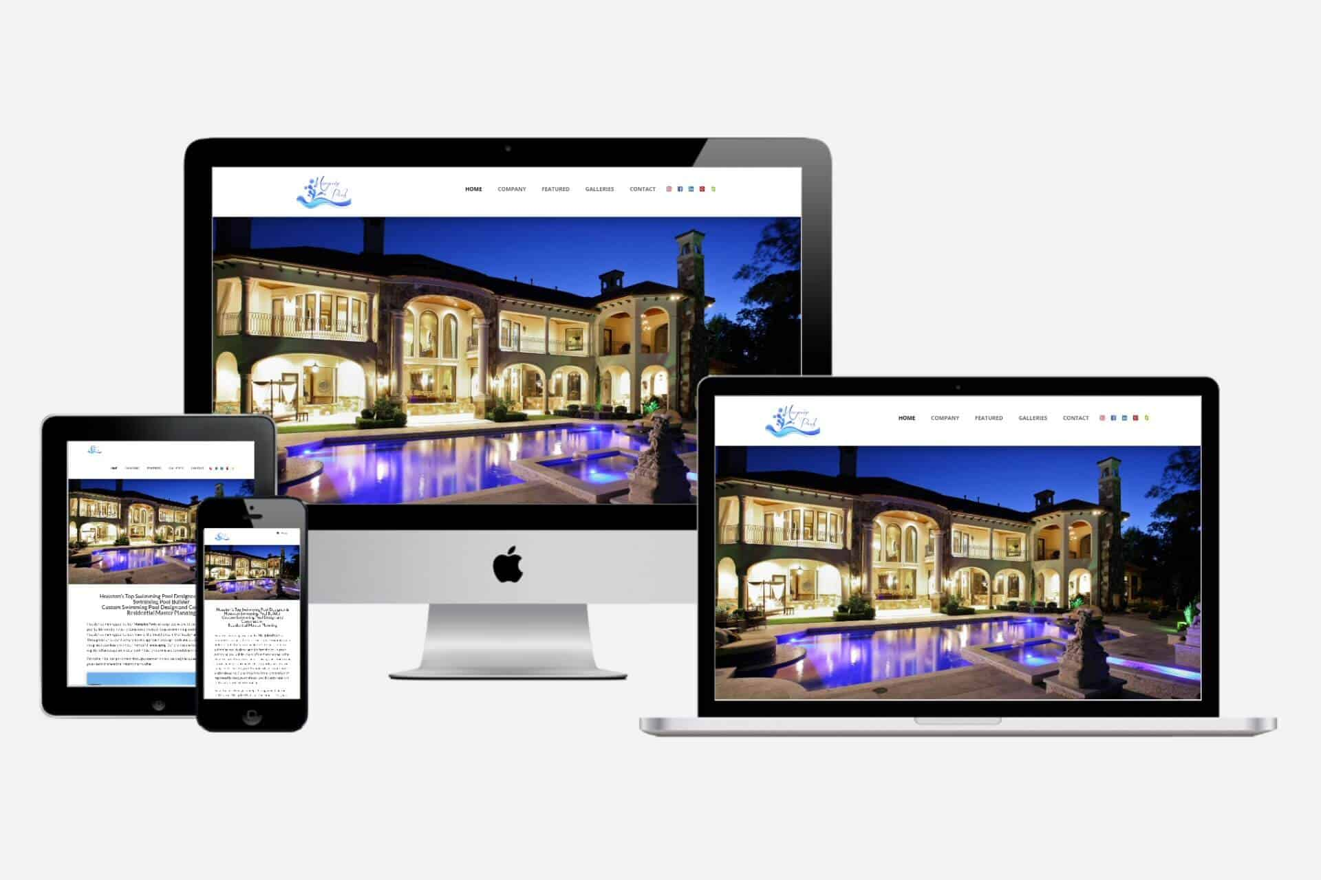 Marquise Pools Website Design by WizardsWebs Design LLC