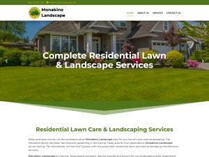 Monakino Landscape - Woodlands Web Design Company is Best #1 - Call WizardsWebs Design LLC