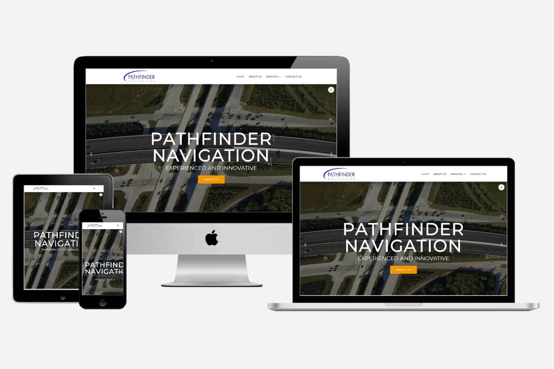Pathfinder Navigation Website Design by WizardsWebs Design LLC