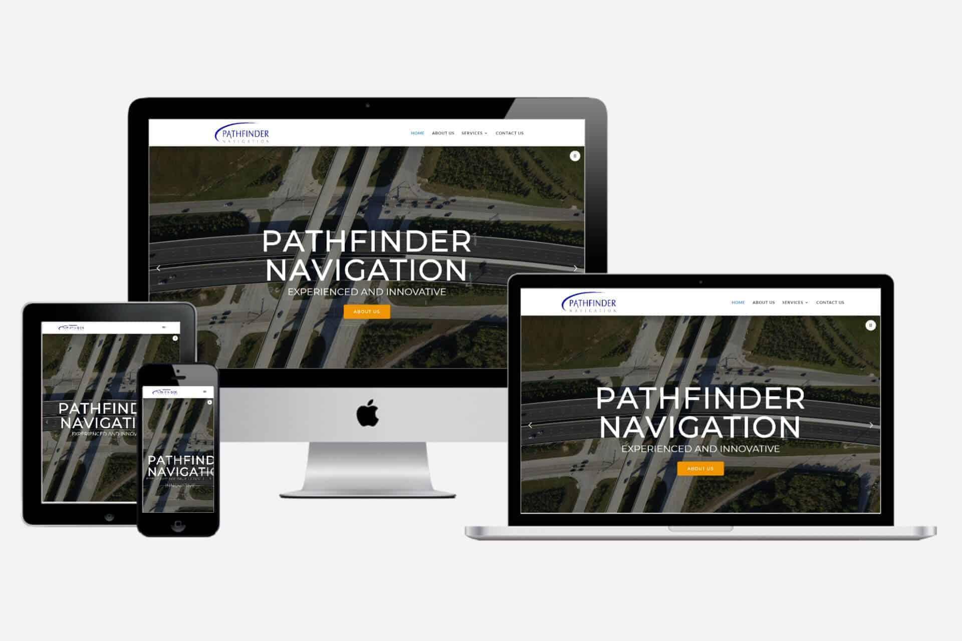 Pathfinder Navigation Website Design by WizardsWebs Design LLC