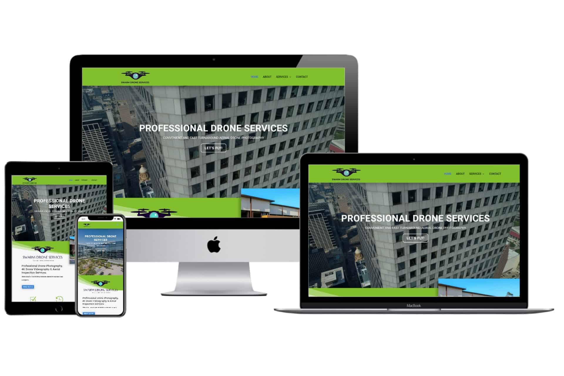 Swarm Drone Services Website Design by WizardsWebs Design LLC