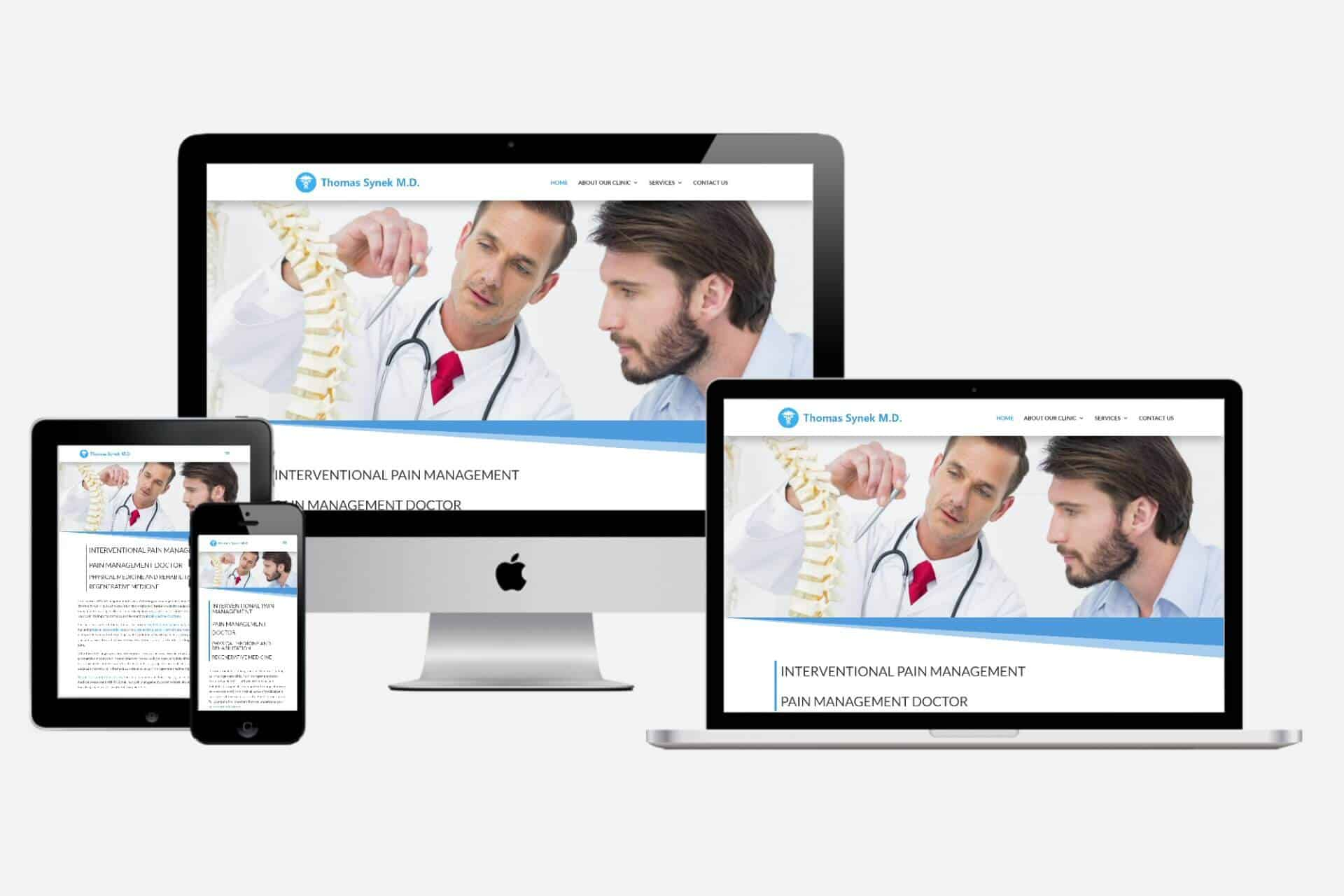 Thomas Synek MD Website Design by WizardsWebs Design LLC