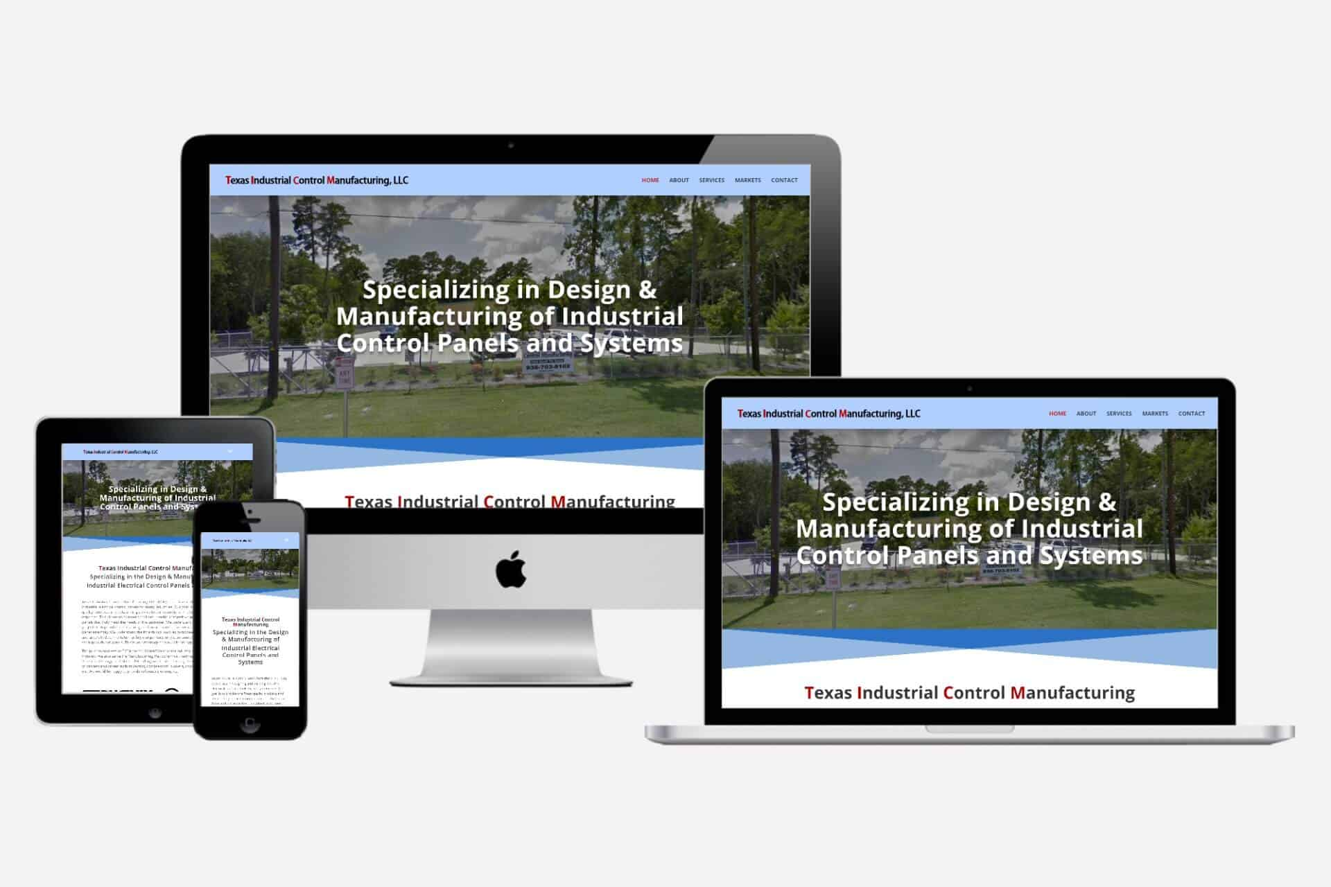 Texas Industrial Control Manufacturing Website Design by WizardsWebs Design LLC